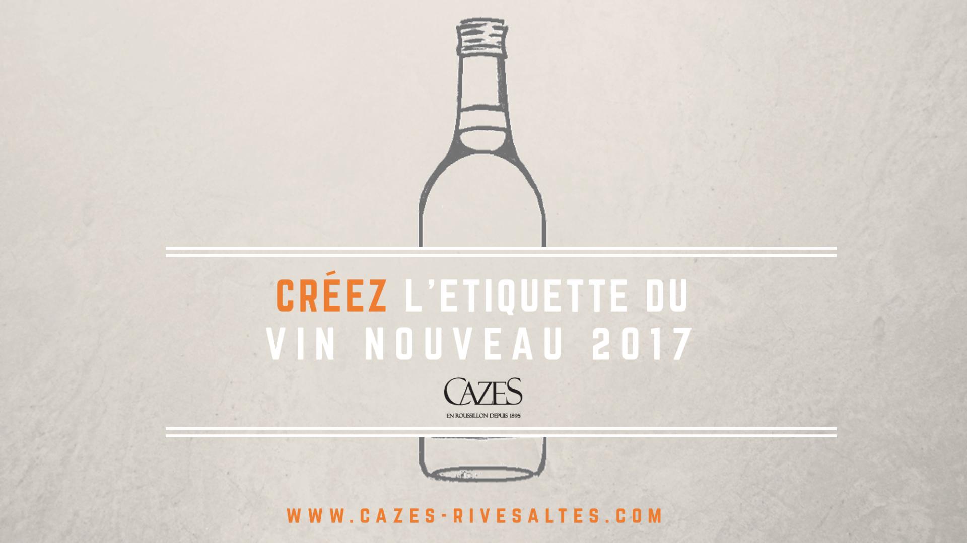 Cr ez l 39 tiquette du vin nouveau 2017 cazes rivesaltes for Salon du vin toulouse 2017