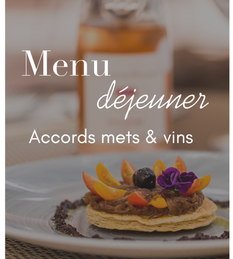 menu déjeuner + vins