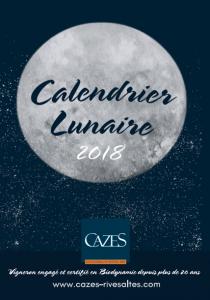 Calendrier Lunaire 2018 - Cazes