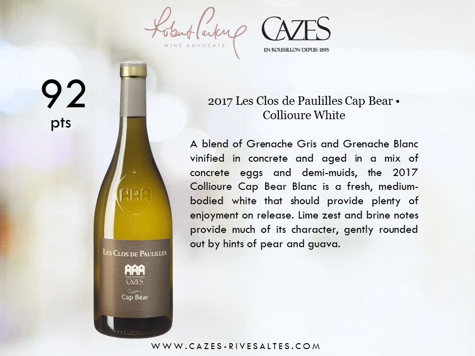 cap bear wine advocate robert parker note