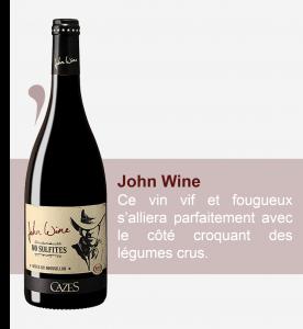 recette, cazes, 66, La table d'aime, rivesaltes, John wine